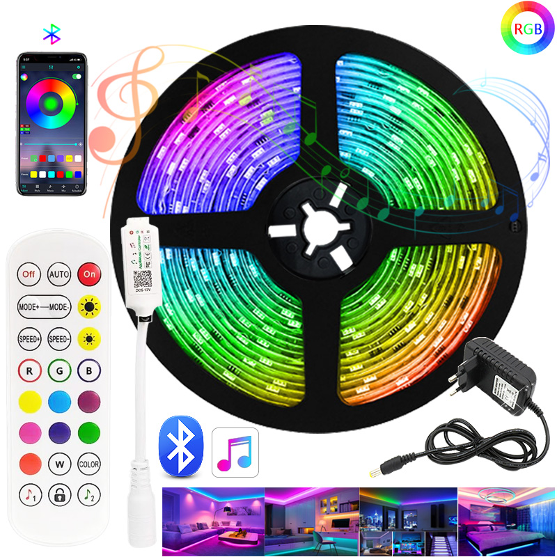 Permalink to Bluetooth Led Strip Lights 10M 5M With Music Sync Color Changing App Control WIFI Remote RGB 2835 5050 Felixable Home Decoration