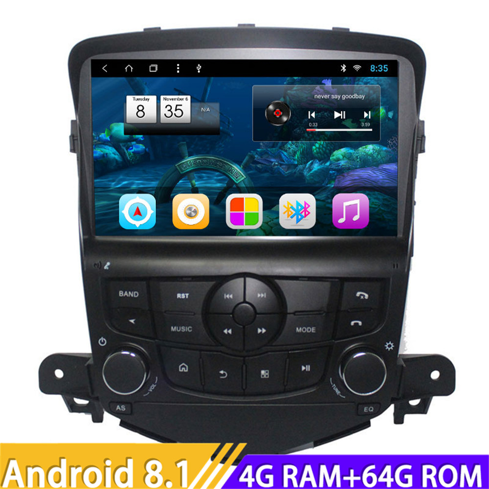 Roadliver Android 8.1 Car PC Head Unit Video For <font><b>Chevrolet</b></font> <font><b>Cruze</b></font> 2009-2014 Stereo GPS Navigation Autoradio Player Magnitol 2 Din image