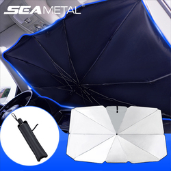 Car Windshield Sun Shade Umbrella Retractable UV Reflection Auto Sunshade Cover Front Window Sun Protect for Car Easy to Storage