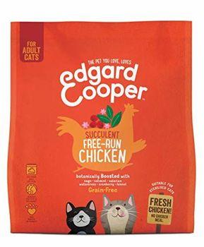 Edgard & Cooper crochette per Gatti Adulti al Carne Fresca di Pollo allevato a Terra, Cibo Secco Senza Cereali, 1,75 kg