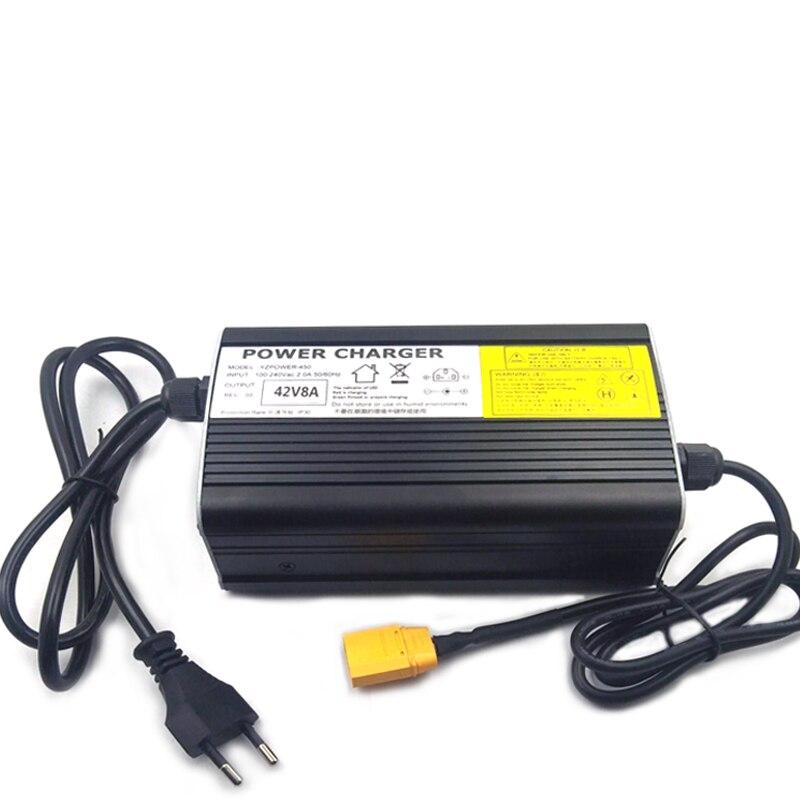 100-240Vac 67.2V 5A Lader 60V 5A Li-Ion Lader 47-63Hz Voor 16S 60V Lithium batterij Snellader 6