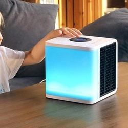 Colorful lights USB Personal Space Cooler Air Conditioner Fan Efficient Eco-friendly Cool Space Office Desk Air Conditioning