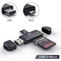 4 em 1 tipo c micro sd usb otg adaptador de cartão usb leitor vara USB C vara tf ler para samsung galaxy note 5|Adaptadores para celular| |  -