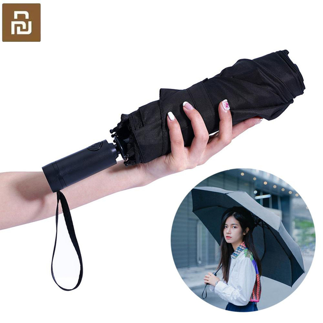 Youpin WD1 自動雨の傘サニー雨夏アルミ防風防水 uv パラソルサンシェード男性女性