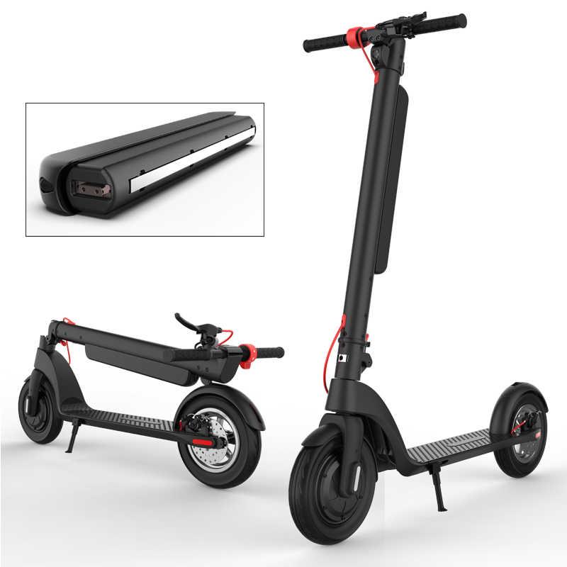 350W e-scooter Grandi Ruote Pieghevole Calcio Scooter Elettrico per Adulti con 10Ah Batteria Rimovibile Prolungare La Distanza di Pedalata e scooter
