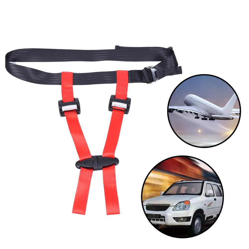 Child Seat Belt Car Baby Safety Seat Strap Durable Belt Child Plane Travel Seat Belt Chest Clip Baby Safety Buckle Seat Belt