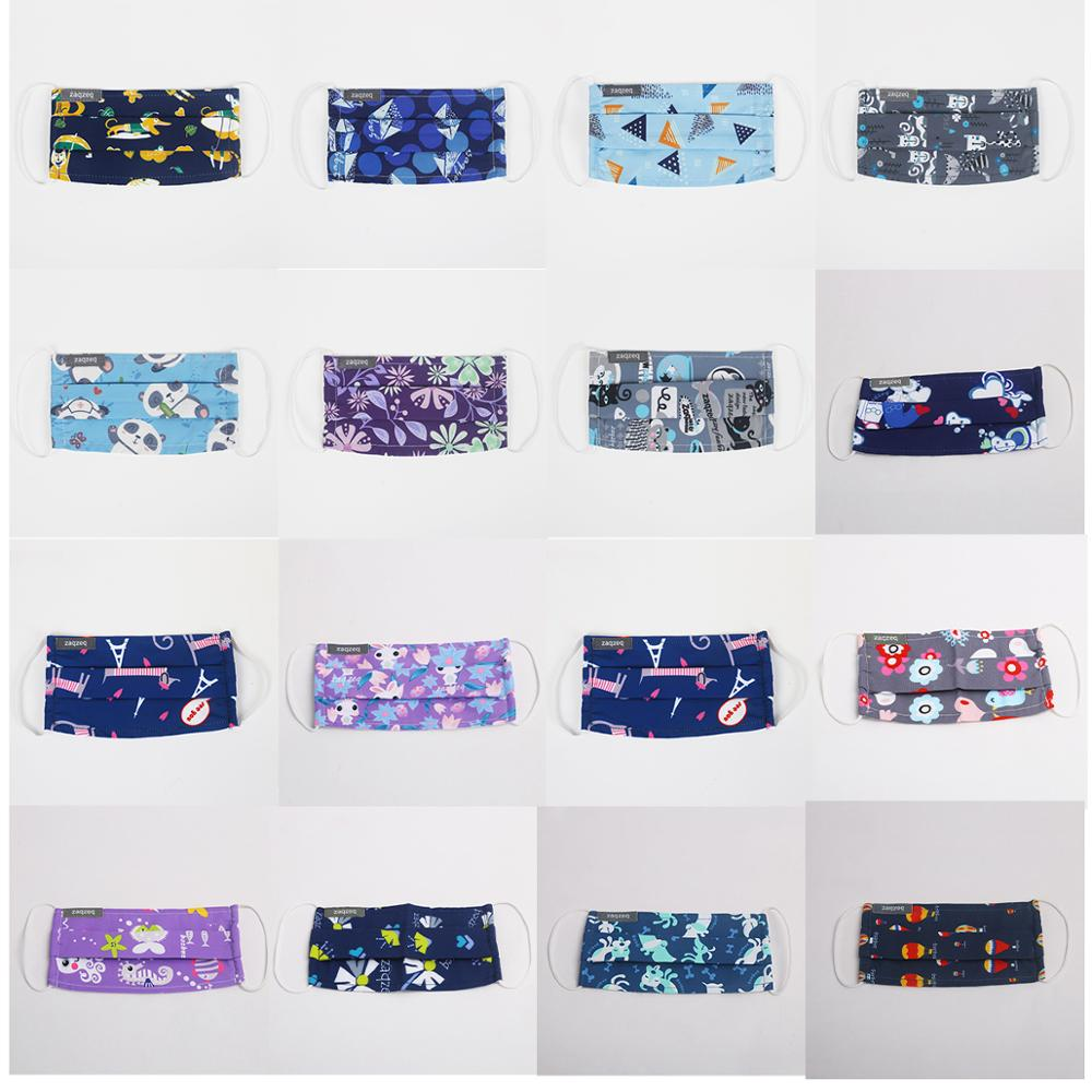 17 Prints Mouth Masks Facial Reusable Washable 2 Layers Dust Mask Windproof Mouth-muffle Proof Care Cotton Face Masks