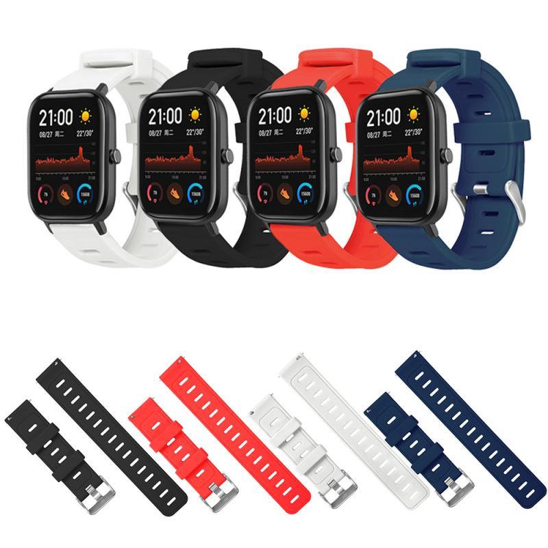 Soft Silicone Strap Bracelet for Huami Amazfit Strap Watch Band 20mm for amazfit GTS Straps Smart Sports Bracelet