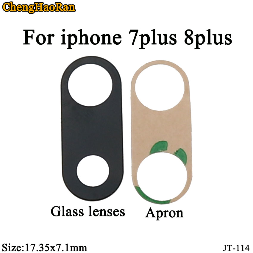 ChengHaoRan 2pcs/lot Rear camera <font><b>glass</b></font> replace for <font><b>iphone</b></font> 7Plus 8Plus <font><b>back</b></font> camera External protective broken <font><b>repair</b></font> accessories image