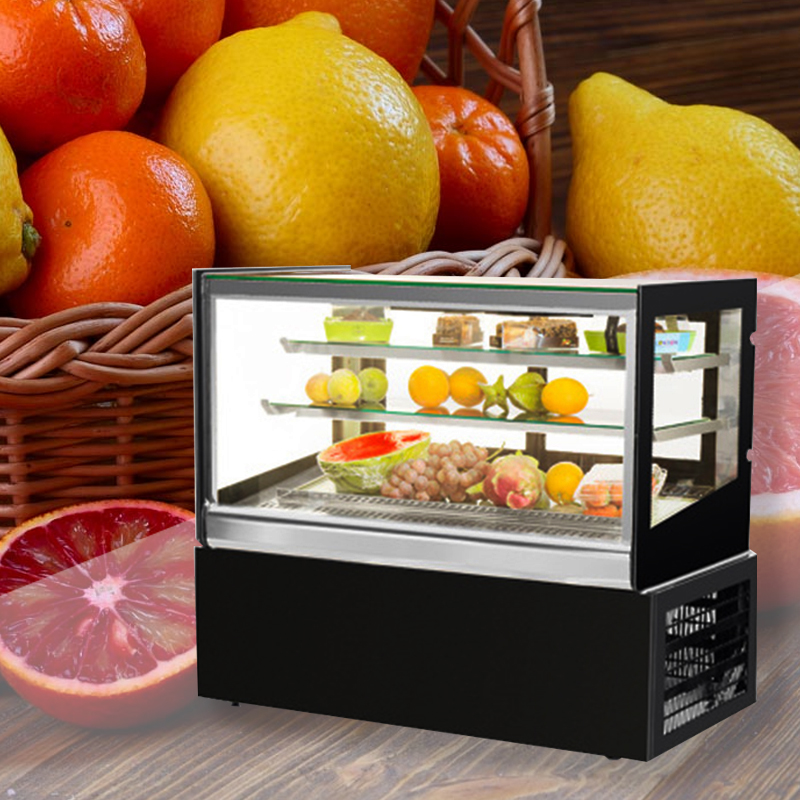 220V Commercial Cake Cabinet Showcase Cake Shop Refrigerated Display Case Preservation Cabinet Small Display Freezer