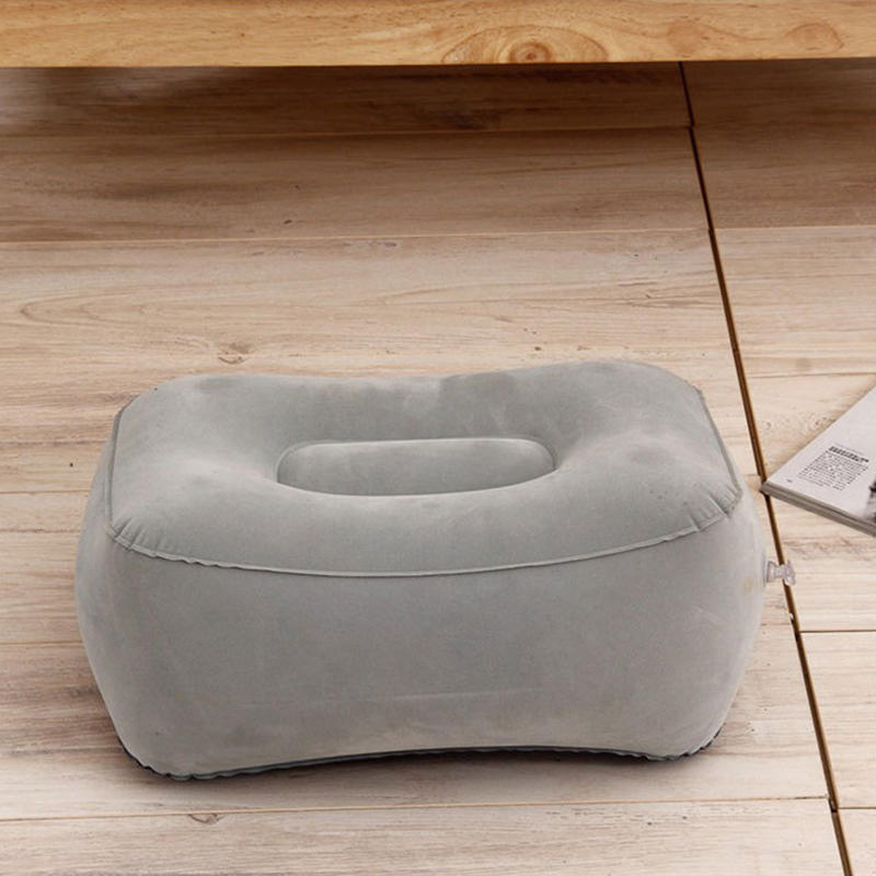 Image 3 - 3 Layers Inflatable Travel Foot Rest Pillow Airplane Train Car Foot Rest Cushion Like Storage Bag & Dust Cover Inflatable Pillow-in Decorative Pillows from Home & Garden