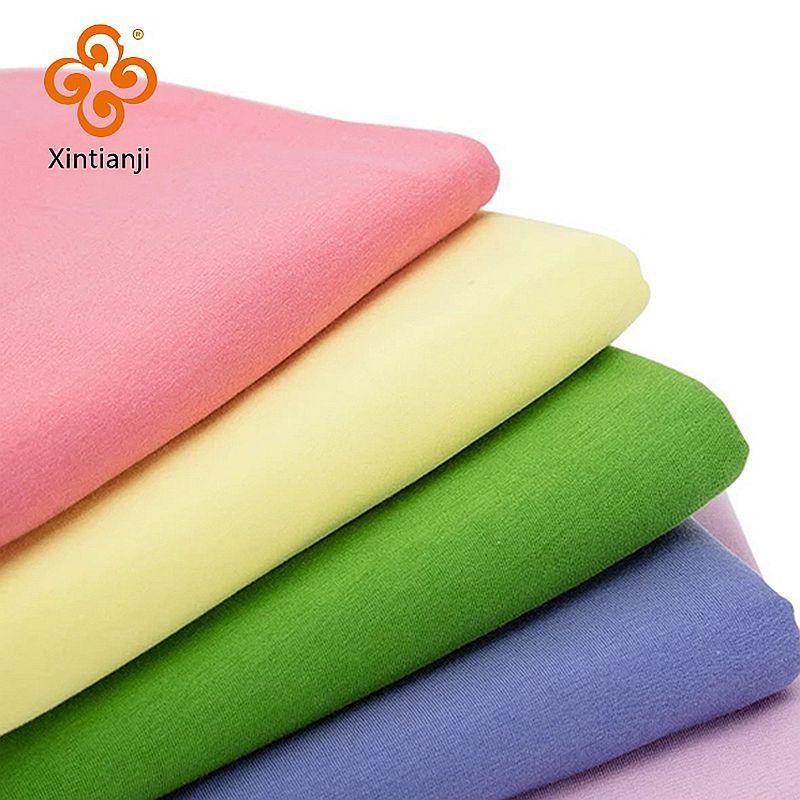 А-ля 60ые Вязаный хлопкового материала на основе спандекса, выполнено в цветовой гамме ткань тонкий эластичный трикотаж для летняя футболка ...