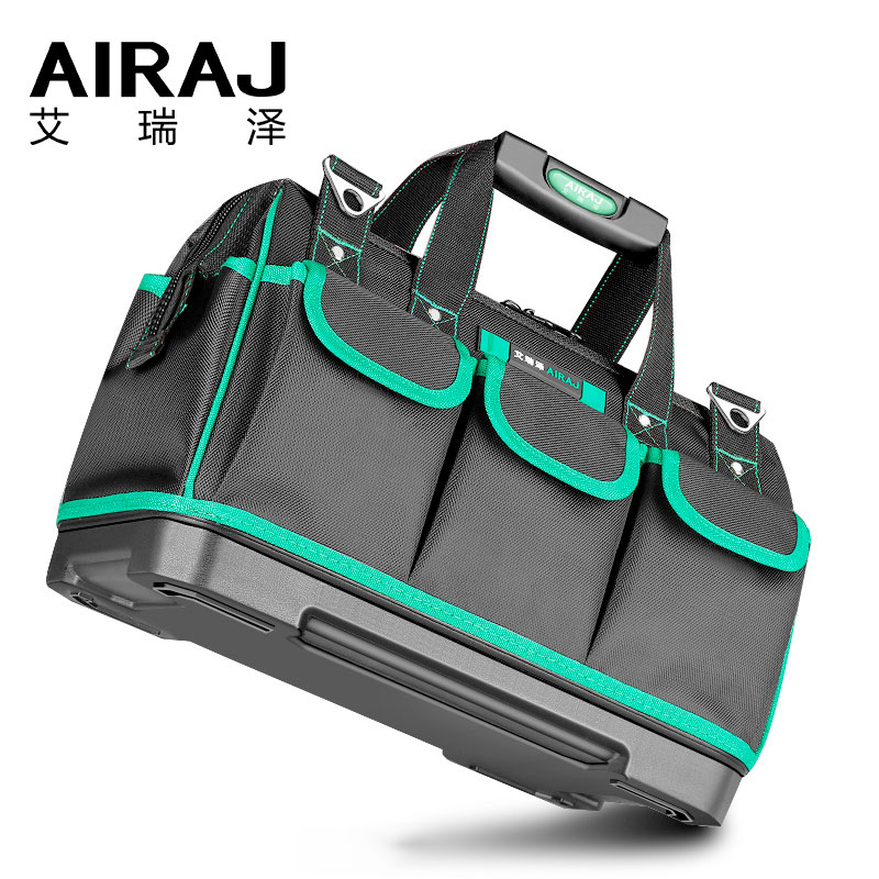 AIRAJ Tool Bag Portable Electrician Bag Multifunction Repair Installation Canvas Large Thicken Tool Bag Work Pocket