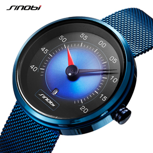 Image 2 - SINOBI Luft Auto Dashboard Neue Kreative Design herren Uhren Top Luxus Mann Quarz Handgelenk Uhren Männlichen Blau Uhr relogio masculino