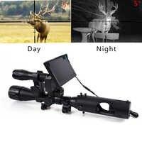 Jagd Nachtsicht Zielfernrohr Taktische Bereiche Optics Anblick 850nm Infrarot LEDs IR Wasserdichte Jagd Kamera Umfang Gerät
