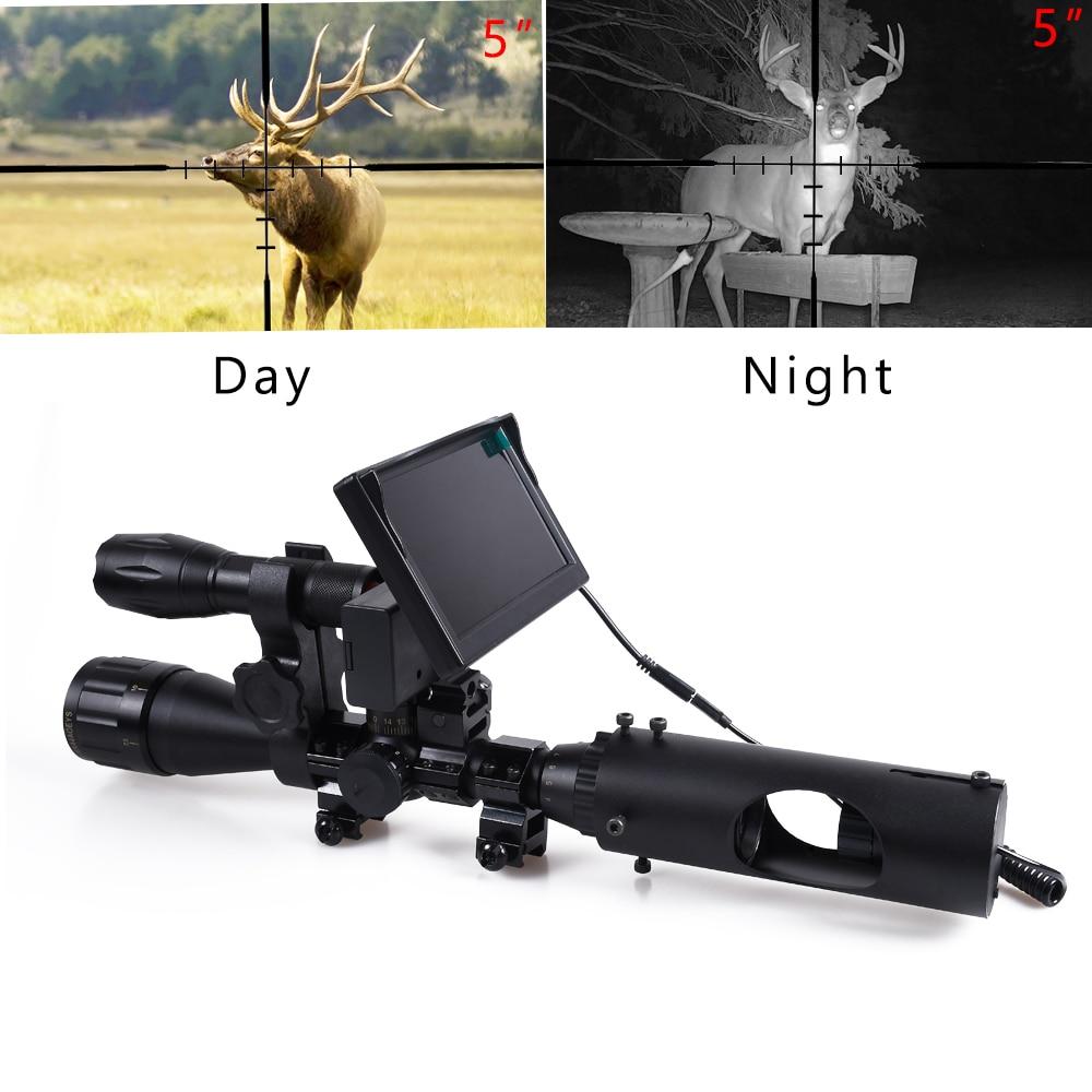 caca visao noturna riflescope tactical scopes optica visao 850nm leds infravermelhos ir a prova dwaterproof agua