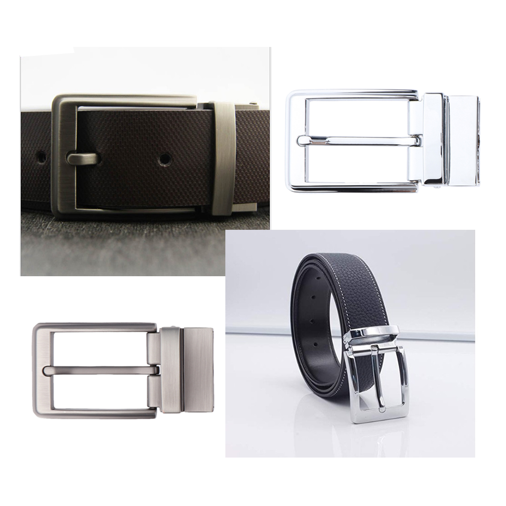 Metal Pin Buckle Fashion Jeans Waistband Buckles For 33-34 Mm Belt Vintage Reversible Single Prong Rectangle Belt Buckles