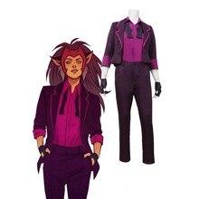 Anime tv she-ra princesa de potência catra cosplay traje uniforme traje terno para homens feminino festa de halloween cosplay