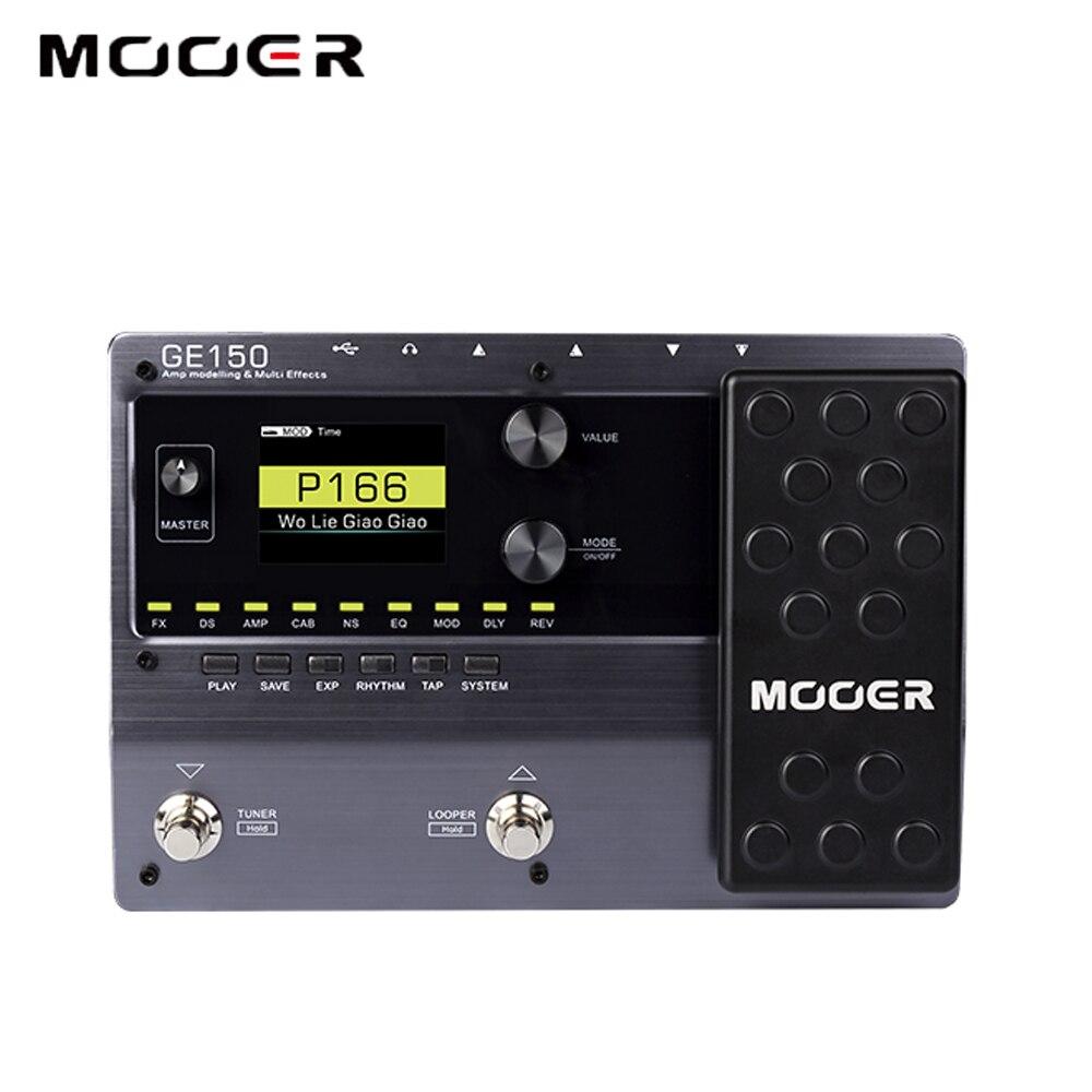 MOOER GE100 processeur multi-effets pédale d'effet avec enregistrement en boucle (180 s), MOOER GE150 guitare pédale ampli modélisation Looper (80 s) - 5
