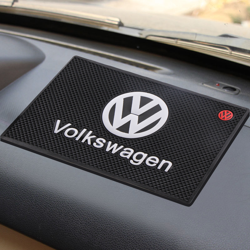Car Logo Anti Slip Mat Phone Holder Non-Slip Mat Non Slip Pad For Volkswagens R Golf 5 6 MK7 Tiguan Car Styling