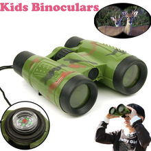 baby yoda 1pc 6 X 30 Plastic Kid Children Magnification Toy Binocular Telescope + Neck Tie Strap Educational Toys Child(China)
