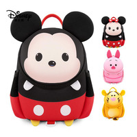 Disney Anti Lost Backpack Kindergarten Bag Suitable for 2 5 Years Old Cartoon Diving Material Child Anti Lost Bag out Safety Bag