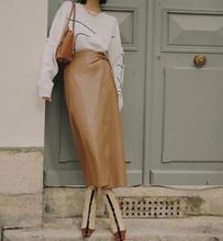 Women Skirt 2019 Fall Winter Rabbit Ear Bow Tie Wrap Long Skirt