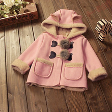 CYSINCOS Girls Fur Ball Coat Faux Suede Hooded Fleece Jackets Children Thicken Clothes Warm Outerwear Kids Autumn Winter Outfits