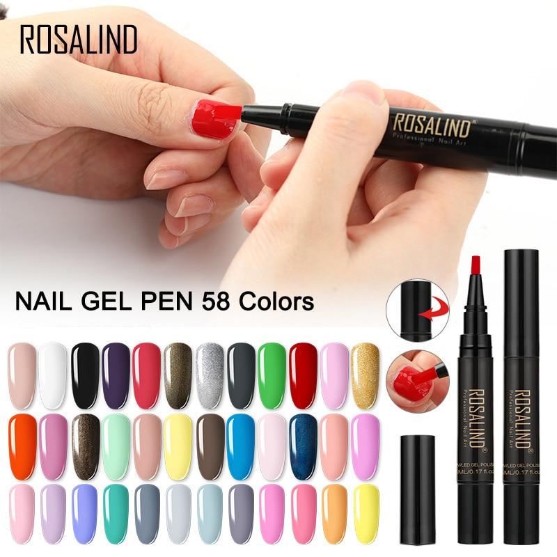 Nail Gel Varnish Pencil One Step Gel Nail Pen No Need Top Base 3 In 1 UV Gel Lacquer Glitter Polish nail art  nail polish set 1