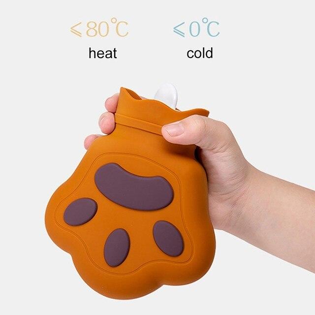 Фото силиконовая мини бутылка для горячей воды подогреватель рук