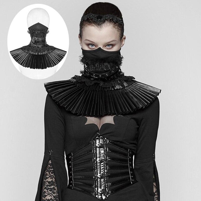 PUNK RAVE femmes victorien gothique noir masque faux col mode nouveauté Steampunk masque scène effectuer accessoires