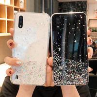 Für Samsung Galaxy A01 EINE 01 SM A015F A015G A015M Fall Bling Glitter Weiche Rückseitige Abdeckung Für Samsung Galaxy A015F/DS A015M/DS fällen