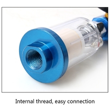 7XEA Water Oil Separator Filter  Inlet and Outlet Air Compressor Fitting with Pressure Regulator for Spray Fitting