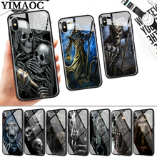 Grim Reaper Skull Skeleton Glass Phone Case for Apple iPhone 11 Pro XR X XS Max 6 6S 7 8 Plus 5 5S SE