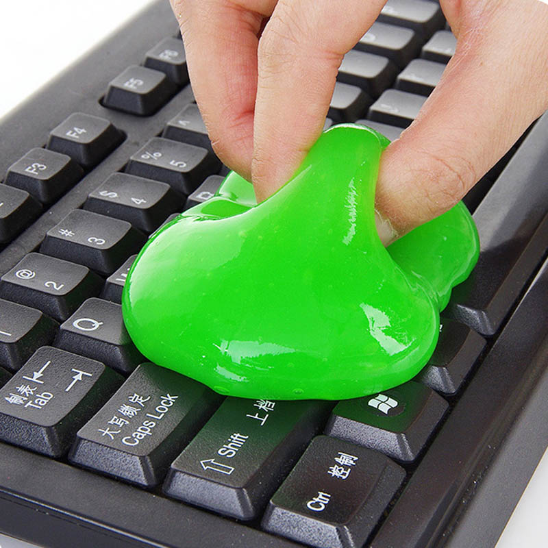 2 Pcs Super Clean Magic Cleaner Gel Keyboard Laptop Mobile Dust Multipurpose Cleaning Tool UND Sale