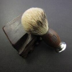 الرجال فرشاة الحلاقة الأحمر الأبنوس الخشب مقبض أفضل الغرير Silvertip فرش الألومنيوم قبضة شعر طبيعي شارب فرشاة