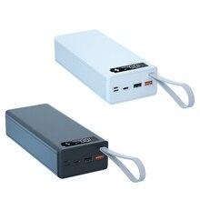 C16 destacável qc3.0 pd carga rápida display lcd diy 16x18650 caso de bateria power bank escudo sem bateria powerbank protector