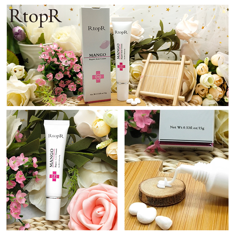 RtopR Repair Acne Cream Anti Acne Acne Treatment Blackhead Cream Shrink Pores Whitening Moisturizing Face Skin Care