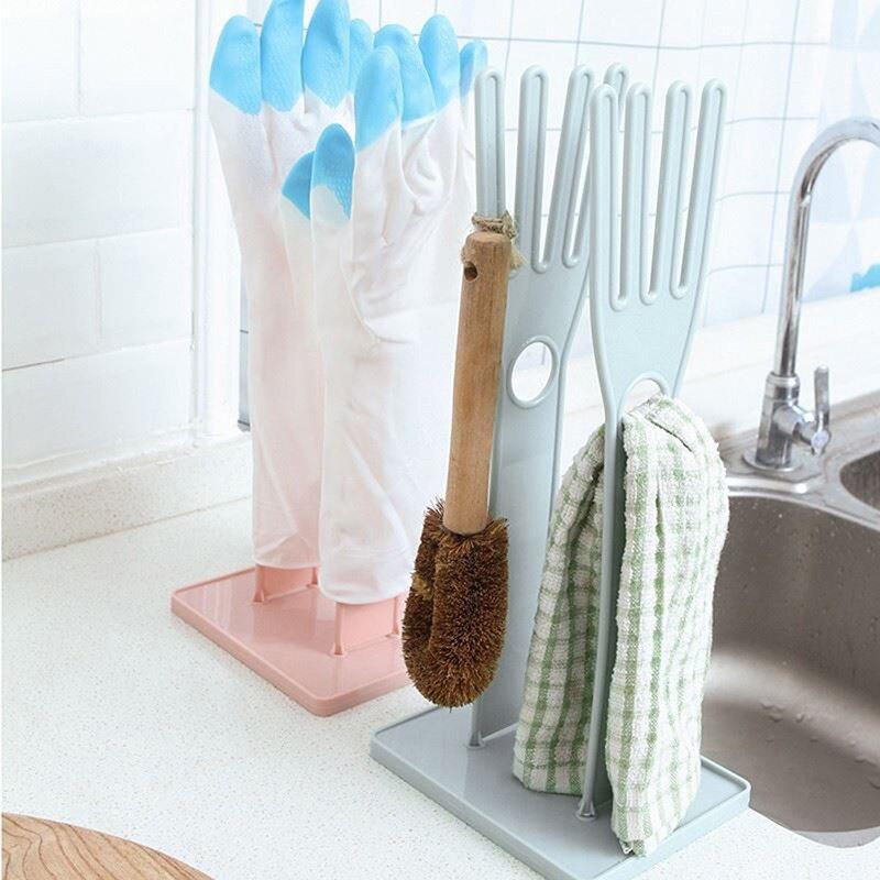 Kitchen Rubber Gloves Drain Racks Towel Hanger Kitchen Sink Storage Organizer Accessories Kitchen Sundries Storage Holders