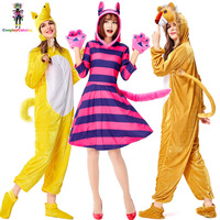 Halloween Animal Cosplay Costume Weasel/Lion/Deer/Magic Cat Cute Women Jumpsuit Carnival Party Romper Lovely Uniforms