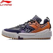 Li-ning men 001 unblock estilo de vida sapatos forro clássico lazer anti-escorregadio sapatos esportivos tênis agcq199