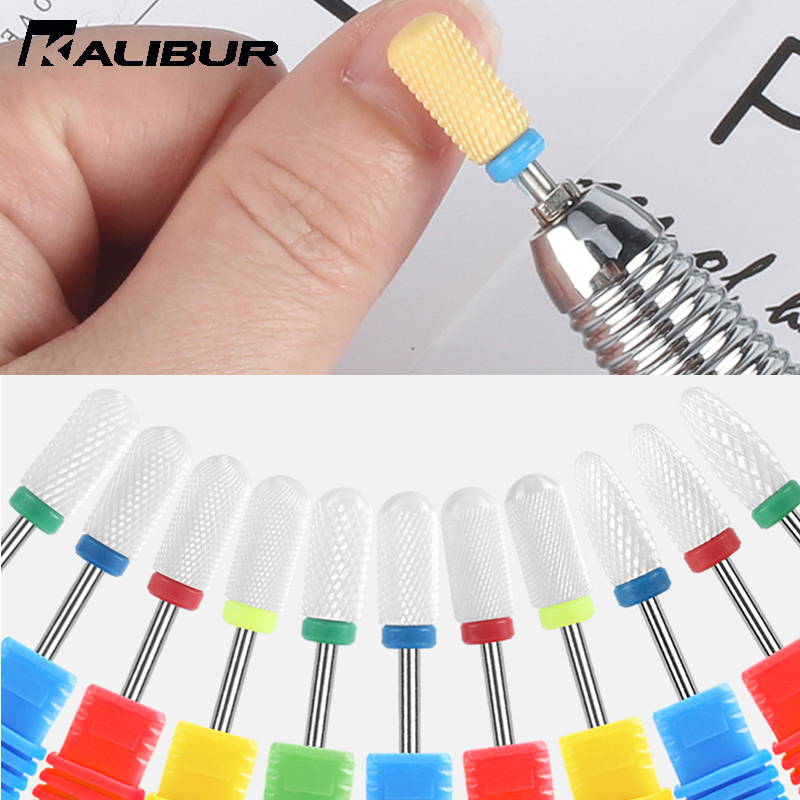 KALIBUR Ceramic Nail Drill Bit Electric Nail Milling Cutter For Manicure Pedicure Nail Art Accessoires Tool Remove Nail Polish