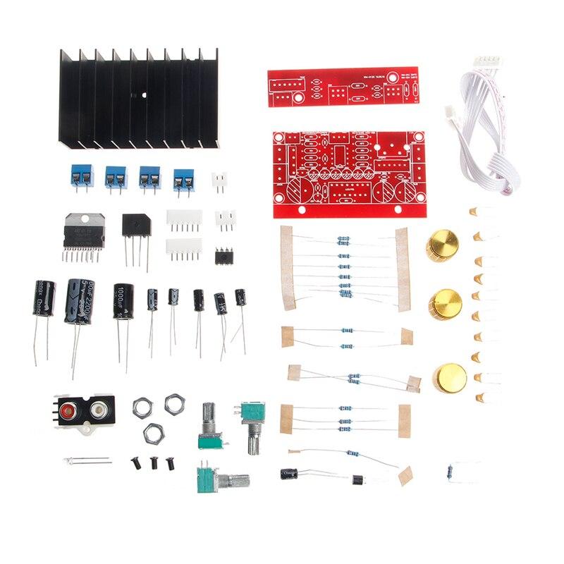 TDA7377 Power Amplifier 2 1 DIY kit 3 Channel Sound Audio AMP Board 12-18V DC