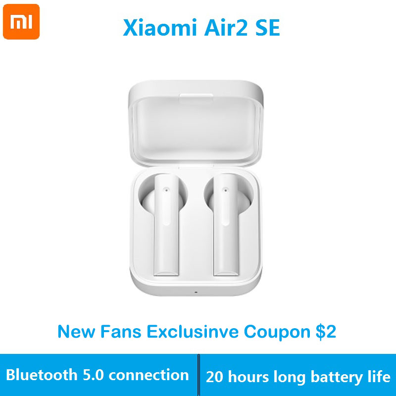 Original Xiaomi Air2 SE Wireless Bluetooth Earphones <font><b>TWS</b></font> AirDots Pro 2 Air 2 SE <font><b>Mi</b></font> True Earbuds 20H Battery Touch Control image