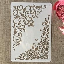 26cm Flower Edge DIY Layering Stencils Wall Painting Scrapbook Coloring Embossing Album Decorative Card Template