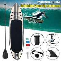 290x80x10cm Inflatable Stand Up Surfboard Kit with Paddle Pump Inflatable Surf Board Outdoor Marine Surfing Board Water Sports