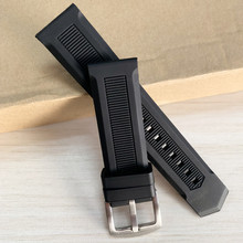 22mm Black Silicone Rubber Straight End Watch Band Strap Belt With Silver Color Pin Buckle Watchband цена 2017