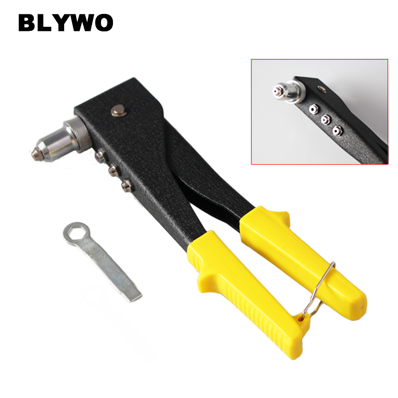 "10"" Hand Riveter Labor-saving  Hand Tool Blind Rivet Nut Comfortable Hand Insert Nut Tool Mandrels 2.4/3.2/4/4.8mm"