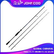 قضيب صيد للغزل من juncoo بطول 1.8 م 2.1 م 2.4 م قوة م م قضيب من الكربون 2 قسم من صنارة الصيد من الألياف