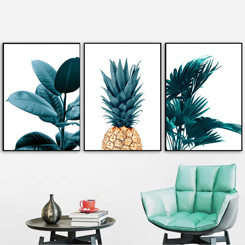 Nordic Pineapple Wall Painting Cuadros Decoracion Posters And Prints Plant Art Poster Canvas Painting No Photo Frame